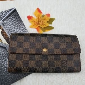 Louis Vuitton Sarah wallet damier ebene